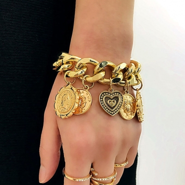 Lovely Trendy Gold Bracelet
