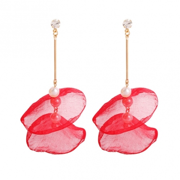 Lovely Chic Red Alloy Earring