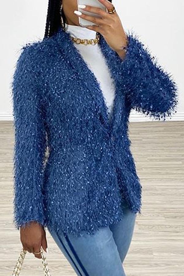 Lovely Stylish Short Blue Blazer