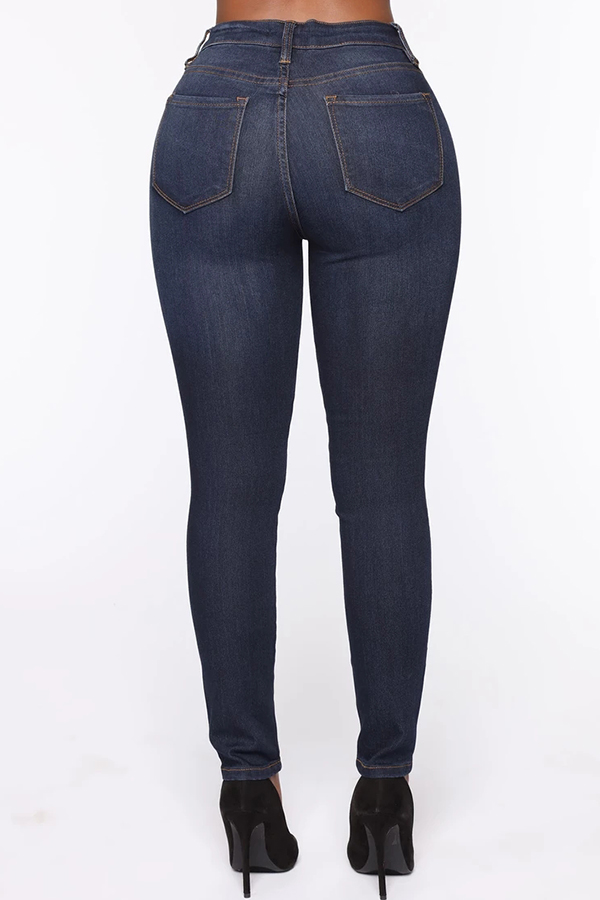 Lovely Chic Skinny Deep Blue Jeans