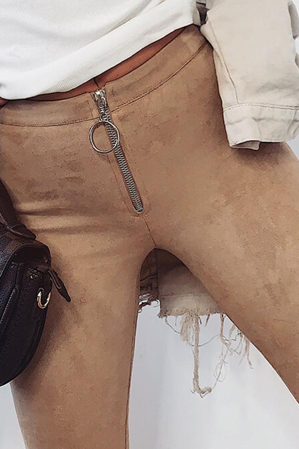 Lovely Casual Skinny Khaki Pants