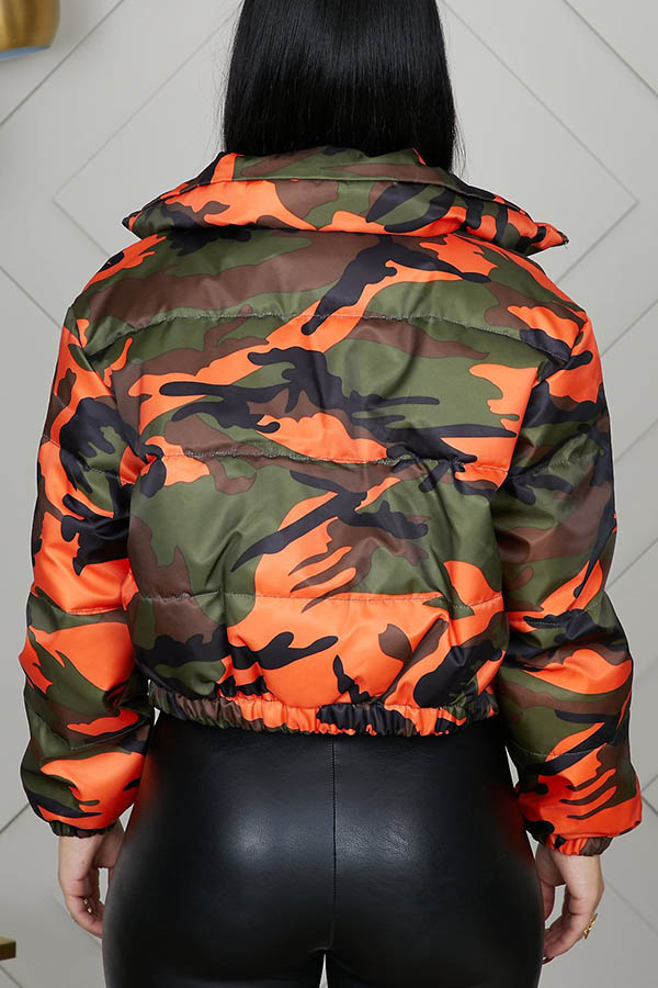 Lovely Casual Camo Croci Coat