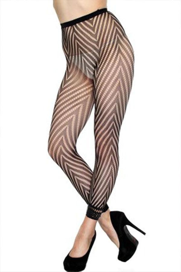 Lovely Sexy Striped Black Bodystocking