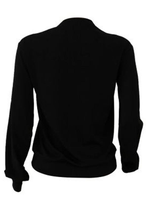 Lovely Casual Letter Printed Black Sweatshirt Hoodie