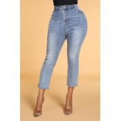 Lovely Leisure Patchwork Blue Jeans