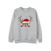 Lovely Christmas Day Print Grey Hoodie