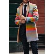 Lovely Bohemian Turndown Collar Multicolor Coat