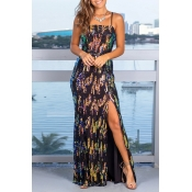 Lovely Party Spaghetti Straps Green Evening Dres