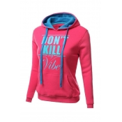 Lovely Casual Letter Watermelon Red Hoodie