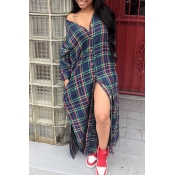 Lovely Casual Plaid Multicolor Ankle Length Dress