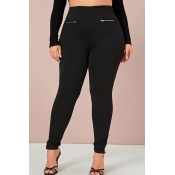 Lovely Casual Skinny Black Plus Size Pants