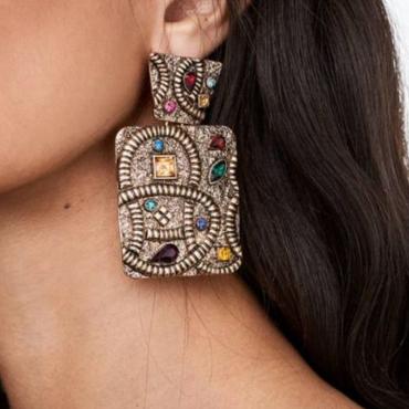 Lovely Trendy Multicolor Crystal Earring
