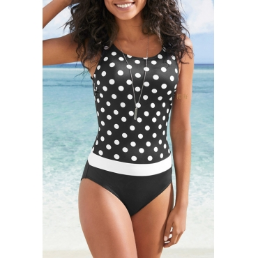 Lovely Dot Print One-piece Swimsuit