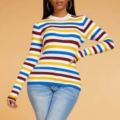 Lovely Chic Striped Multicolor Sweater