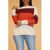 Lovely Chic Color-lump Multicolor Sweater