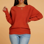 Lovely Casual Basic Jacinth Sweater