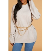 Lovely Chic Basic Beige Sweater