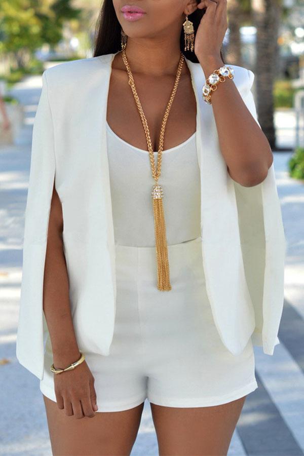 Lovely Work Cloak Design White Coat