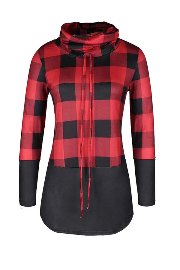 Lovely Casual Patchwork Red Plus Size Hoodie