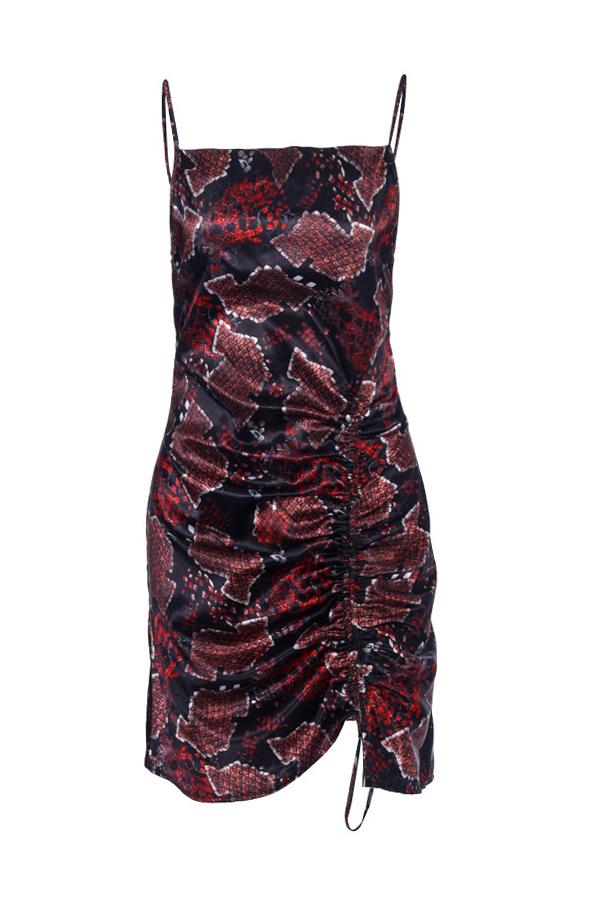 Lovely Trendy Snake Print Mini Dress