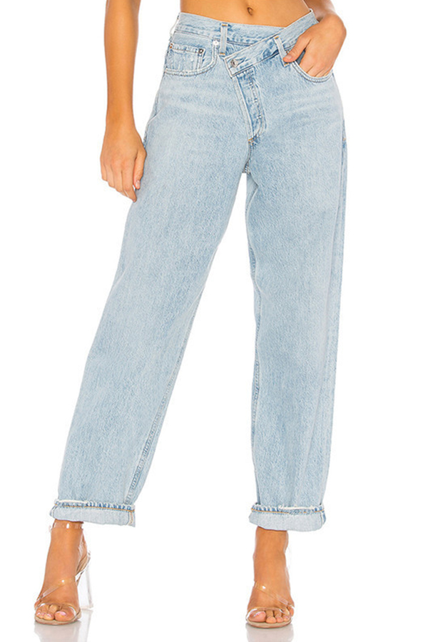 Lovely Casual Loose Baby Blue Jeans