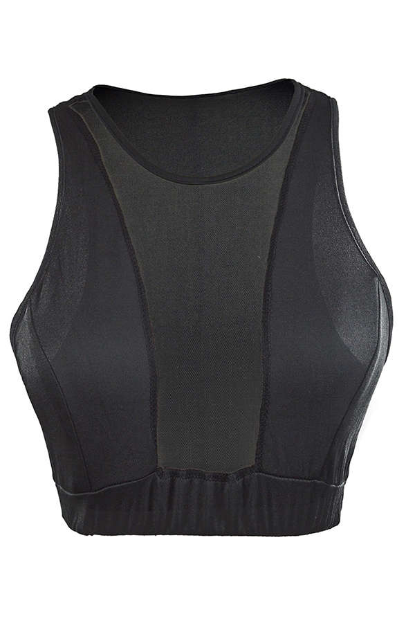 Lovely Street Patchwork Black Camisole