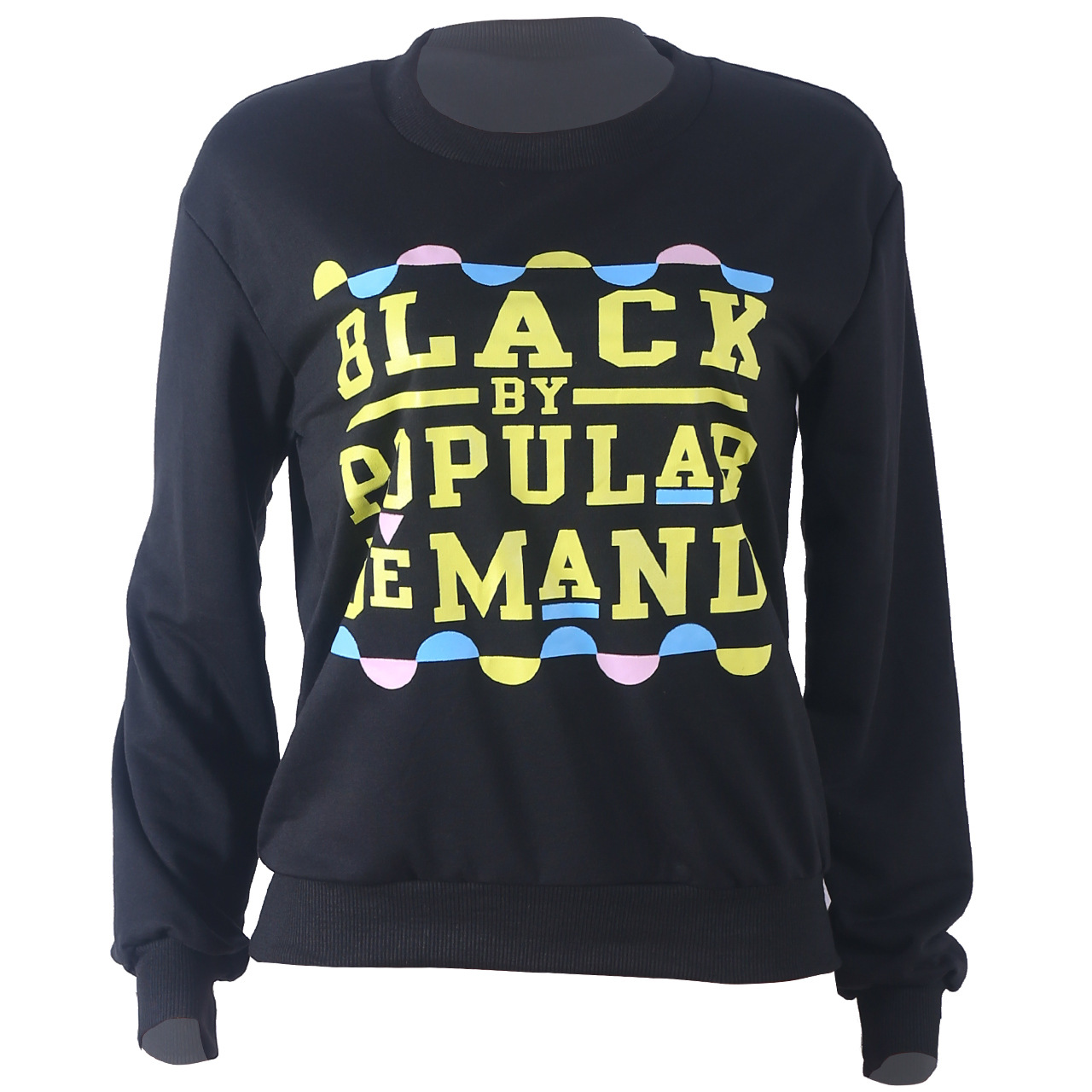Lovely Casual Letter Print Black Hoodie