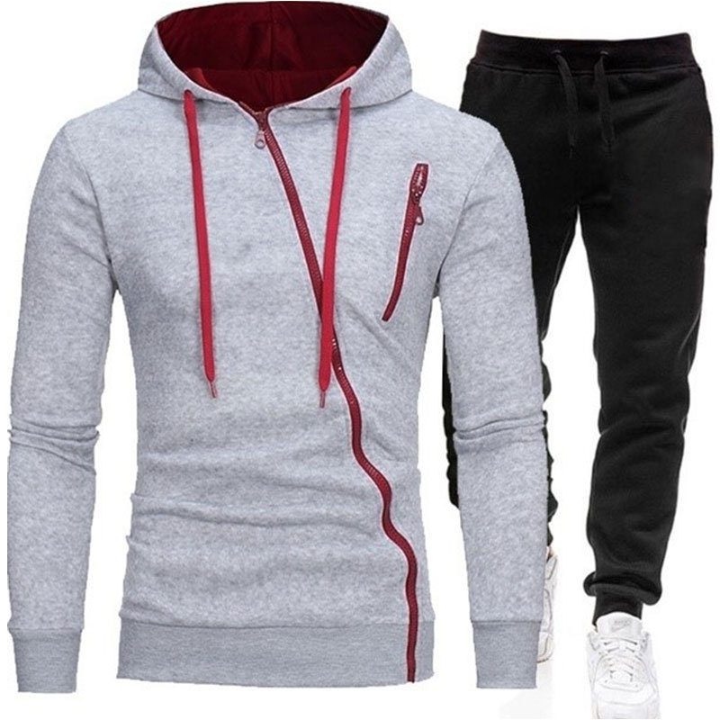Lovely Casual Hooded Collar Light Grey Two-piece Pants Set