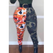 Lovely Stylish Camo Print Red Pants