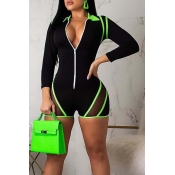 Lovely Trendy Print Skinny Green One-piece Romper