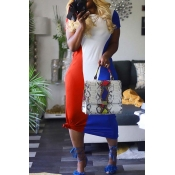 Lovely Casual Patchwork Multicolor Ankle Length Dr