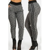 Lovely Casual Patchwork Grey Pants