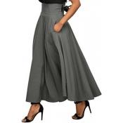 Lovely Work Loose Grey Ankle Length Skirt