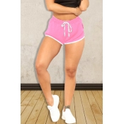 Lovely Casual Drawstring Pink Shorts