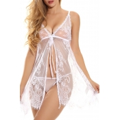 Lovely Sexy See-through White Babydolls