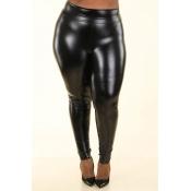 Lovely Sexy Skinny Black  Plus Size Pants