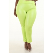 Lovely Sexy Skinny Light Yellow Plus Size Pants