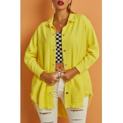 Lovely Street Tassel Design Yellow Jacket