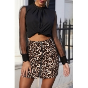Lovely Leisure Patchwork Black Blouse