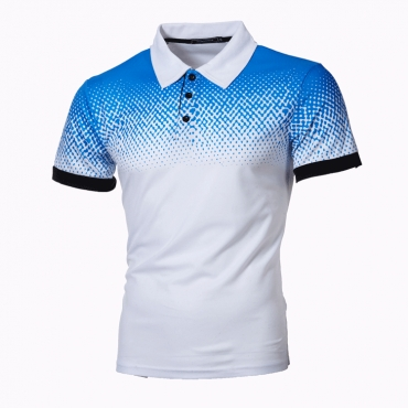Lovely Casual Print White Polo Shirt
