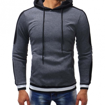 Lovely Sportswear Hooded Collar Dark Grey Hoodie