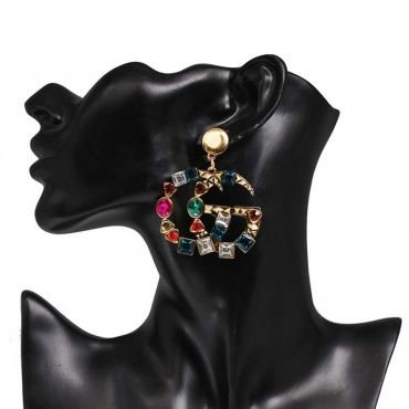 Lovely Chic Crystal Multicolor Earring