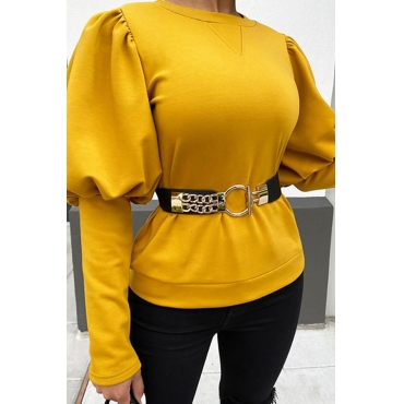 Lovely Chic Basic Yellow Blouse