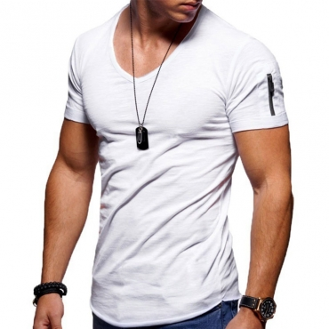 Lovely Leisure Short Sleeve Basic White T-shirt