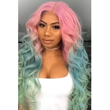 Lovely Chic Curly Multicolor Wigs