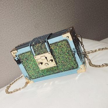 Lovely Chic Patchwork Blue Crossbody Bag