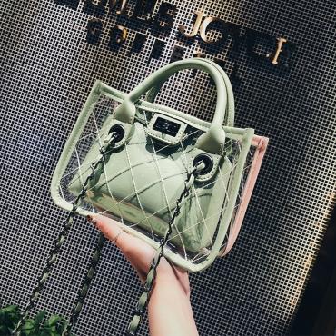 Lovely Chic Patchwork Green Crossbody Bag
