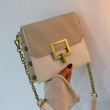 Lovely Vintage Patchwork White Crossbody Bag