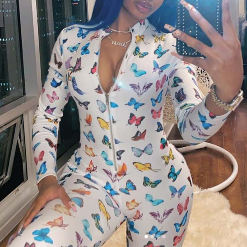 Lovely Stylish Print White One-piece Jumpsuit фото