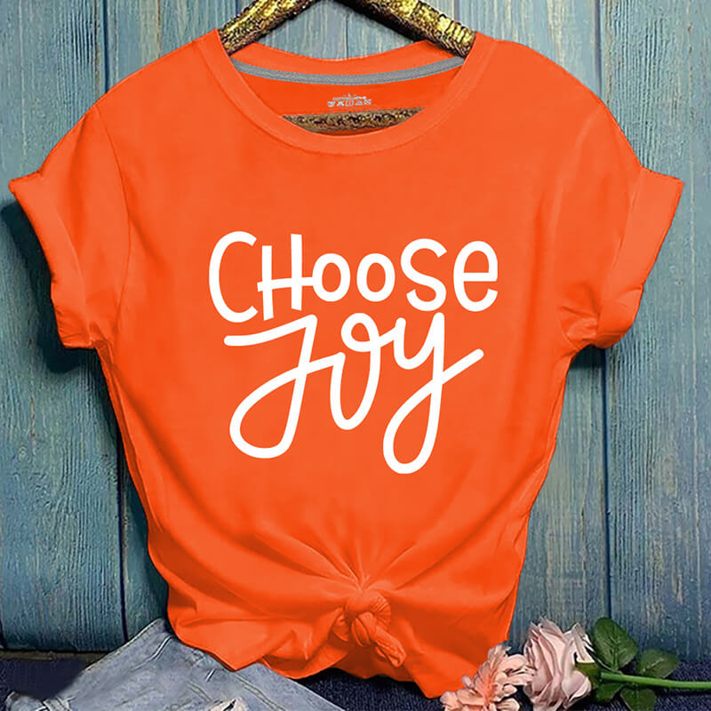 Lovely Casual Letter Print Orange T-shirt